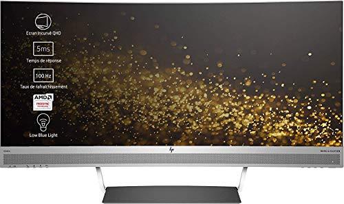 HP Envy 34 (W3T65AA) 86,36cm (34 Zoll) Monitor (WQHD 21,9 HDMI Curved) schwarz/silber