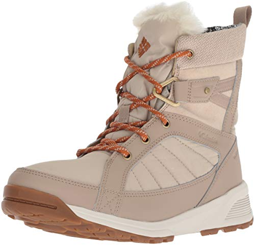 COLUMBIA Damen Wasserdichte Wanderstiefel, MEADOWS SHORTY OMNI-HEAT 3D, Beige (Ancient Fossil, Bright Copper), 39