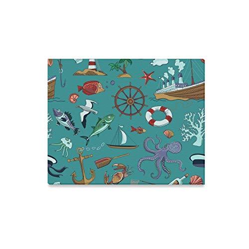 lerei Farbige Nautische Marine Themed Prints Auf Leinwand Das Bild Landschaft Bilder Öl Für Home Moderne Dekoration Druck Dekor Für Wohnzimmer ()