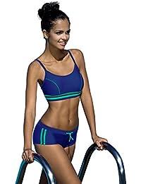 Badeanzug fur Damen endurance zweiteiliges Schwimmanzug Vorgeformte BH-Cups