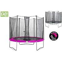 EXIT Twist Trampolin pink/grau Ø 183 cm mit Sicherheitsnetz