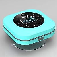 étanche Bluetooth Douche Haut-Parleur avec écran LCD Radio FM, il Se connecte Facilement à Tous Vos périphériques Bluetooth sans Fil, Forte adhérence Ventouse appels Mains Libres