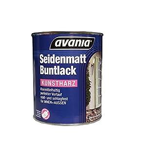 Avania Seidenmatt Buntlack / weiß / 750 ml / für Innen und Außen / Malerqualität v. Fachmann für Holz, Putz,Beton, Mauerwerk, Kunststoff,Eisen, Stahl, Metall,Zink, Aluminium, Kupfer