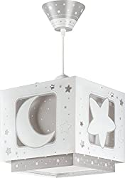 Dalber Fluorescent Moon and Star Lampshade, Grey