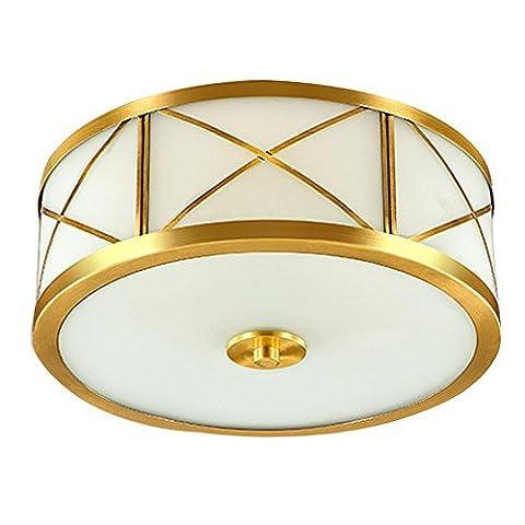 Kupfer Deckenleuchte Moderne Einfache Golden Runde Atmosphärischen für Schlafzimmer, Arbeitszimmer, Balkon, Aisle, Lamps , kleine