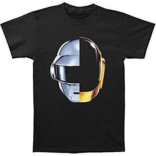 Personalized T-Shirt Daft Punk Split Helmet T-Shirt Men's Punk T-Shirt