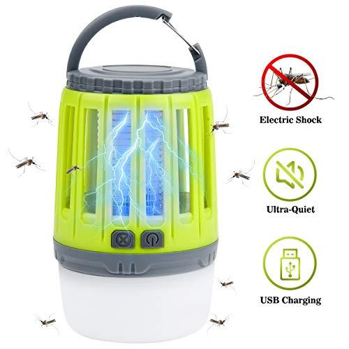 IREGRO Bug Zapper 2 in 1 Lampada Portatile Anti-zanzara LED Lanterna da...