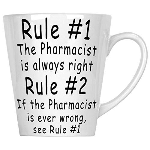 Regla 1 El farmacéutico siempre tiene la razón Regla 2 Novedad divertida 340 ml Latte taza b31L