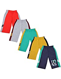 Provalley 100% Cotton Multicolored Printed Shorts for Boys- Pack of 5