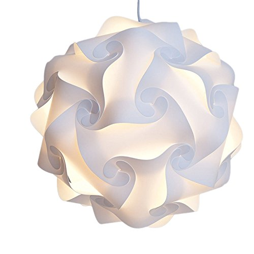 growthci-30-elements-modern-iq-puzzle-jigsaw-light-lamp-shade-ceiling-lampshade-s-25cm-white