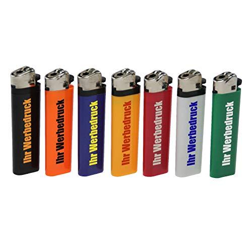 500 x einseitig Bedruckt Feuerzeug Ecuador ORANGE mit Reibrad 1-farbig Werbung Druck Logo