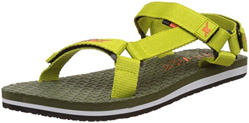 Sparx Women's Olive and Lemon Green Fashion Sandals - 4 UK/India (37 EU)(SS-0444)  available at amazon for Rs.419
