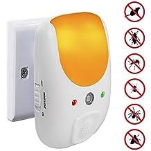 VENSMILE Ultrasuoni Scaccia Topi Repellente Elettronico Collegare ed Elettromagneti, per roditori, Scarafaggi, Formica ecc con sensore di luce notturna