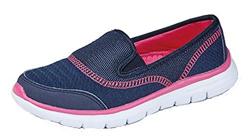 DEK ?Get Fit? Damenlaufschuhe, leichte Sport- und Wanderschuhe, Blau - navy - Größe: 36.5