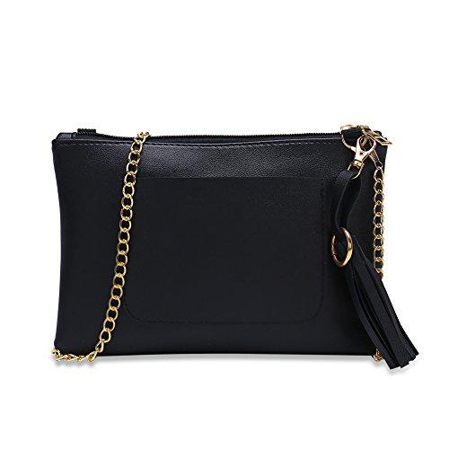 Faysting EU donna fashion borsa a tracolla donna borsa a spalla vari colori scelgliere hit colore rettangolo pelle stile buon regalo san valentino E