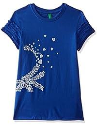 United Colors of Benetton Girls' Regular Fit Plain Jumper
