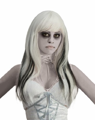 Phantom Perücke (Phantom Ghost Black & White Costume Wig Adult One)
