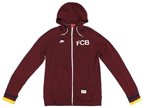 Nike FCB BARCELONA Hoody Kapuzenjacke Zip Pullover 546814 Weinrot 677, Farbe:bordeaux;Textilien Größen:L (Barcelona Hoody)