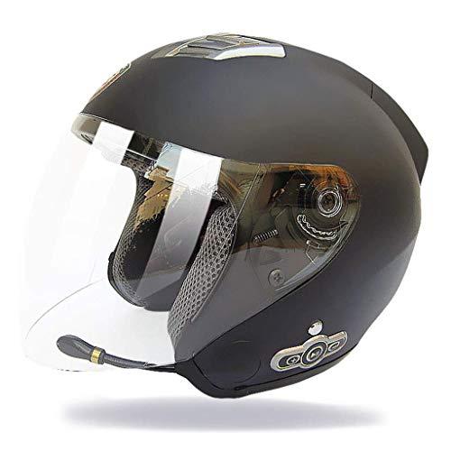 Casco casco completo Motocicleta Bluetooth Parasol