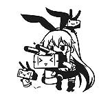 mlpnko Adesivo Cartone Animato Anime Adesivo per Auto Adesivo da Parete in Vinile Decorazione Decorazione della casa 60x66 cm