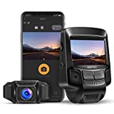 APEMAN Dash Cam WiFi 1080P FHD Car Dashboard Camera DVR 170° Wide Angle Lens 2.45 Inches IPS LCD Advanced Sensor Super Night Vision WDR, Loop Recording, Motion Detection, G-Sensor, Parking Monitoring
