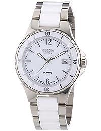 Boccia 3215-01 - Reloj de cuarzo para mujer, correa de cerámica color blanco