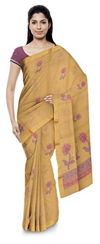 Jamil Kota Doria Sarees Cotton Saree (Wh008_Yellow And Pink)