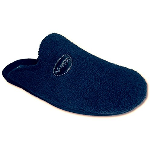 Thongs von zu Hause, Handtuch geschlossene Zehe Muro marineblau Marineblau