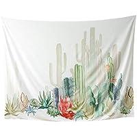 Cdet 1x Tapisserie Tropischer Kaktus Wandteppich Wall Hanging, Bed Sheet, Comforter Picnic Beach Sheet, Heimwerker Kunst 150 * 130CM