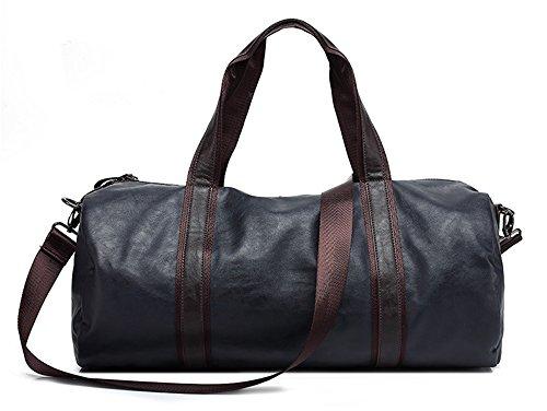 Xinmaoyuan Männer Handtaschen Pu Farbe Retro Männer Umhängetasche Travel Handtasche, Schwarz Blau