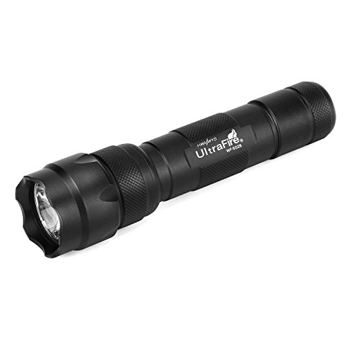 UltraFire Linterna LED WF-502B,Linterna Tactica 1000 Lumen 5 Modos,Antorcha LED Impermeable Estilo clásico,para Ciclismo,Camping,Montañismo