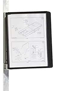 Durable 591401 Vario Magnet Wall Support Mural Magnétique 5 Pochettes pour Consultation et Présentation Documents Noir