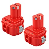 Powayup 12 V 3,0 Ah Ni-Mh reserveaccu voor Makita 1220 1222 PA12 1233S 1234 1233 S rood gereedschapsaccu