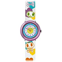 Flik Flak FPN039 - Reloj analógico infantil de cuarzo con correa de piel multicolor