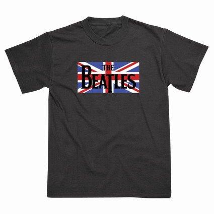 Preisvergleich Produktbild Spike Herren T-Shirt The Beatles Union Jack, schwarz, Gr. S