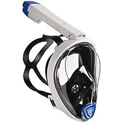 Ocean Reef - Masque de plongée One - Masque de Plongée Visage Complet avec Pièce Buccale - Visions à 180 Degrés sous l'eau - Couleur Blanc - Taille S/M