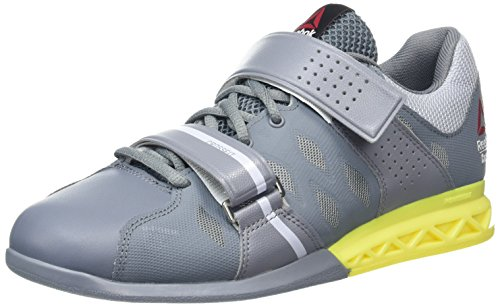 Reebok Crossfit Lifter Plus 2.0, Chaussures de Fitness Homme Gris (Asteroid Dust/Cloud Grey/Hero Yellow)