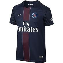Nike Psg Yth Ss Hm Stadium Jsy Camiseta Línea Paris Saint Germain, Niños, Azul Marino (Midnight Navy / Black / Challenge Red / White), L