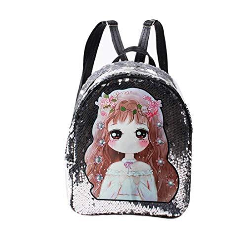 LHY TRAVEL Mädchen Pailletten Rucksack Splitter Rucksack Glitter Bling Frauen Sparkle für Casual School Daypack,A
