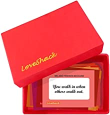 Love Shack 100 Reasons We are Friends Cards for BFF (Red)