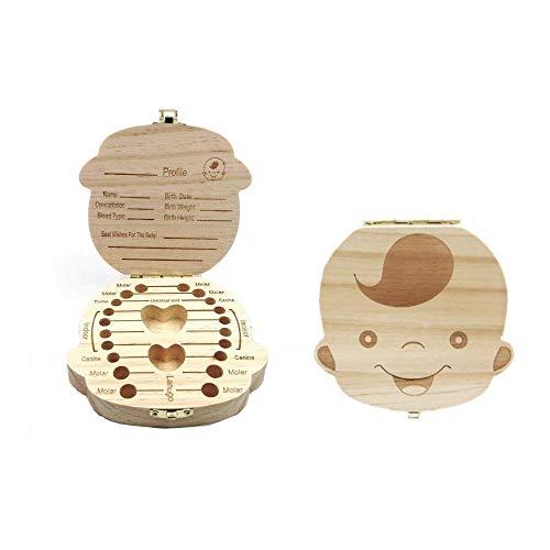 JZK® Imagen madera personalizado bebé dientes deciduous