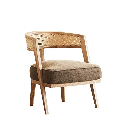 BBSYHUMM Wicker Sessel, Wicker Sofa Lounge Chair, Holzrahmen/Gartenterrasse/Wohnmöbel, Größe: 60x68x70cm (Size : 60x68x70cm) -