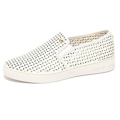 8818P sneaker MICHAEL KORS SLIP-ON OLIVIA bianco scarpa donna shoe woman [35]