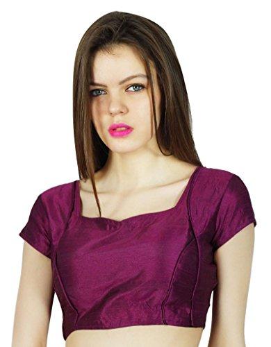 6 Damen Designer Bluse (Phagun Designer Party Wear Fertig gemacht Dupion Bluse Crop - Top Choli)