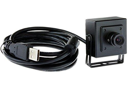 Metal Global Technologies (ELP 720p Hd Metal Case Mini-USB-Webcam-Kamera mit für Gebäude oder Industrie Video Surveillance (2.1mm Objektiv))
