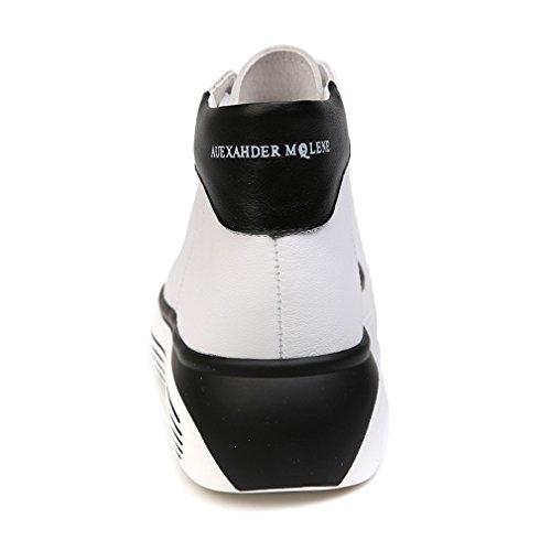 Damen Sneakers Schnürer Lässige Plateau Aufzug Sportschuhe Weiß