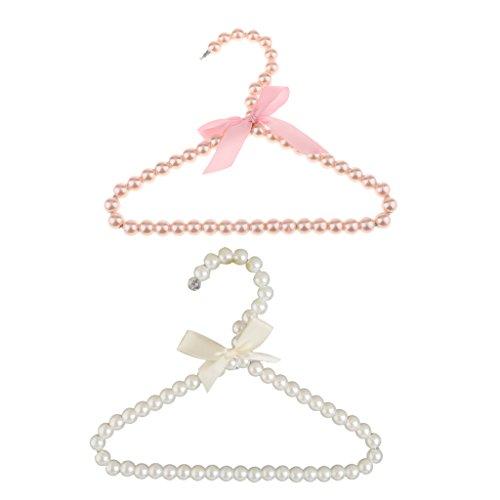 le Kleiderbügel Weiß/Rosa aus Kunststoff - typ1 Rosa + Weiß (Baby-boutiquen Online)