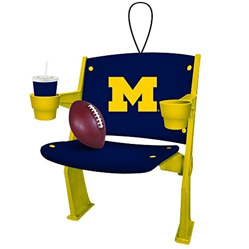 Michigan Ornament (Michigan Wolverines Official NCAA 4 Inch x 3 inch Stadium Seat Ornament by Evergreen by Evergreen Enterprises)