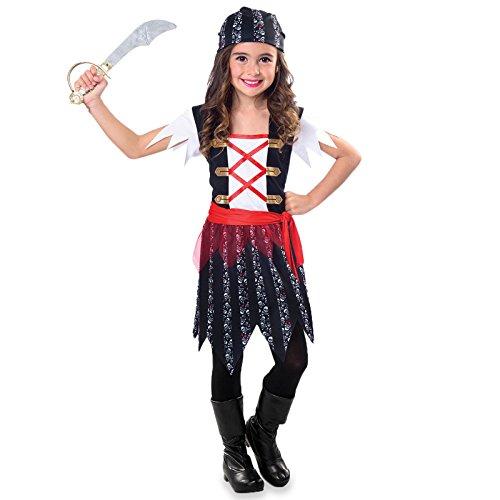 Hübsche Piratin - Piratin Pirat Kostüm Kinder Mädchen ()