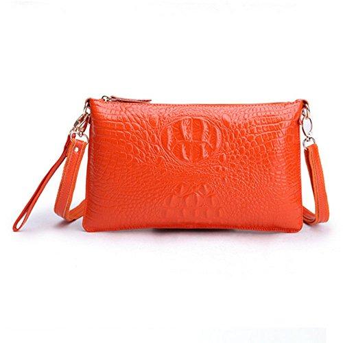 Eysee, Poschette giorno donna Nero Anguria 29cm*18cm*1cm arancione